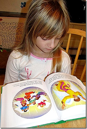 The Beginner's Bible from Zonderkidz, Emma reading