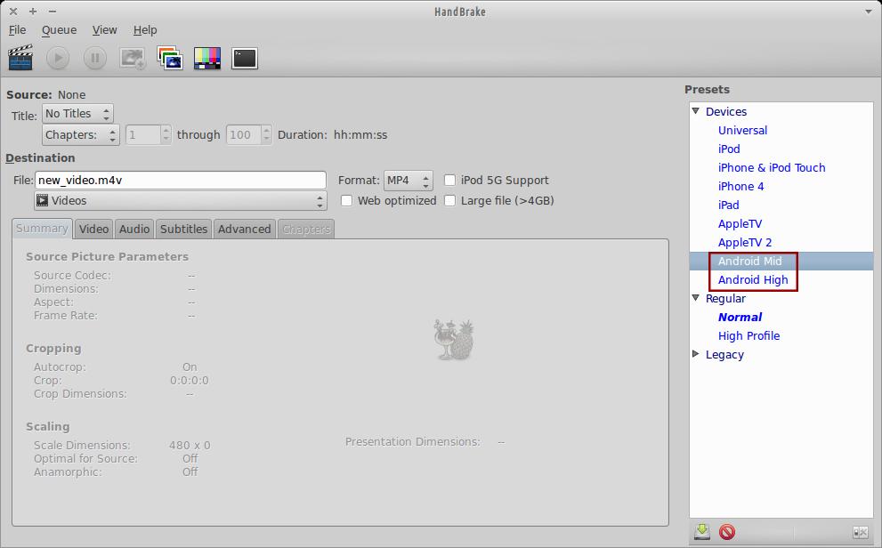 Xubuntu Geek: [HOW TO] Encode Video for Android in Xubuntu
