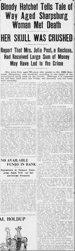 Julia OReilly Murdered Pittsburgh Press 12_18_1906