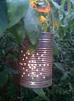 repurposed soup tin lanterns