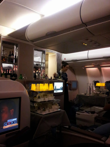 Flight with candlelight. From What's It Really Like to Fly Turkish Airlines Business Class?