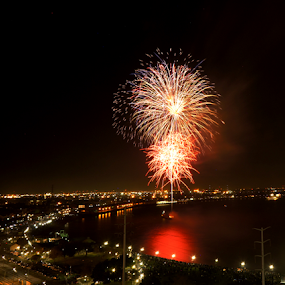 New Orleans New Year! by Ken Wagner - Public Holidays New Year's Eve ( mississippi river, fireworks, long exposure, night, landscape )
