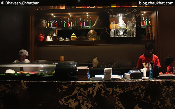 Service desk of Shizusan (The Asian Bistro) in Phoenix Market City at Viman Nagar area of Pune