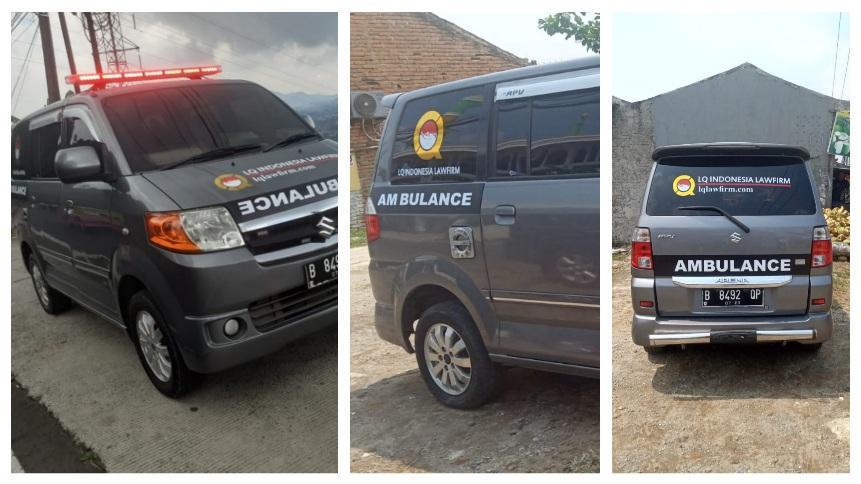 Ambulance LQ Indonesia Lawfirm Sebagai Salah Satu Bentuk Sumbangsih  Untuk Membantu Para Korban Covid yang Butuh Kendaraan Darurat