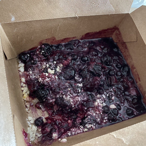 Amazing berry cobbler!!! Ice cream too, but not pictured LOL.