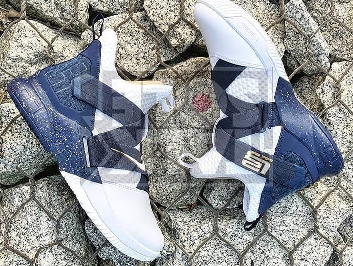 71904b1f2345 The OG Zoom Soldier  Navy  Returns for the Nike LeBron Soldier 12 ...
