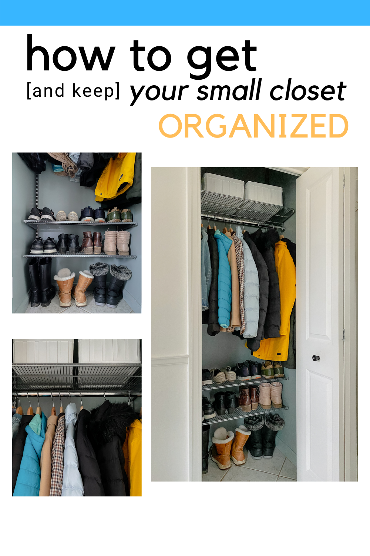 entryway closet organization, small closet organization ideas, small entryway organization