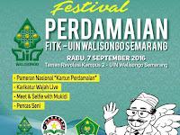 Ada Mukidi di Festival Perdamaian FITK UIN Walisongo Semarang