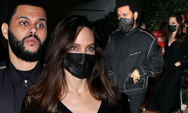 Angelina Jolie and The Weeknd fuel dating rumors again as they step out for dinner in LA