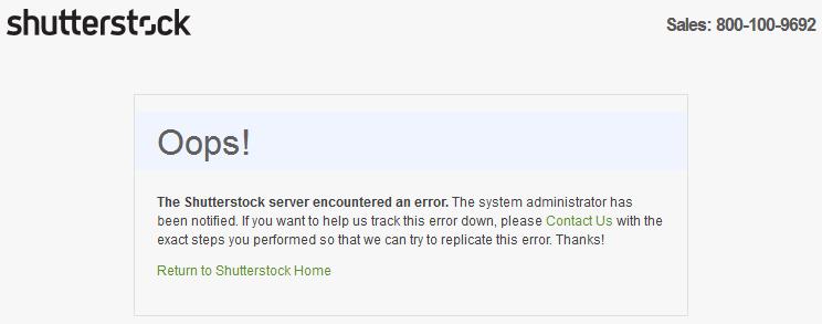 Shutterstock Oops!