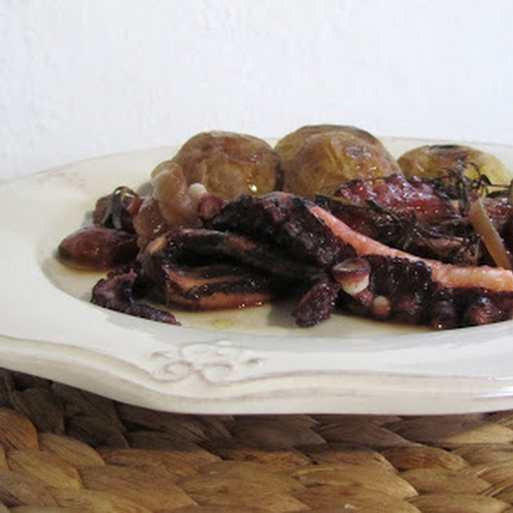 Aromatic Octopus In The Oven
