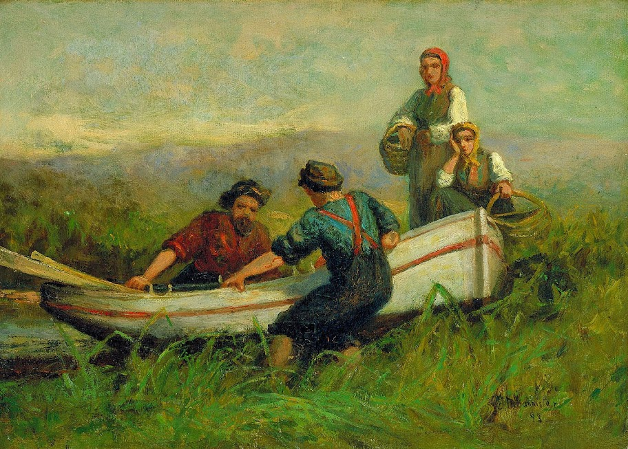 Edward Mitchell Bannister - People Near Boat