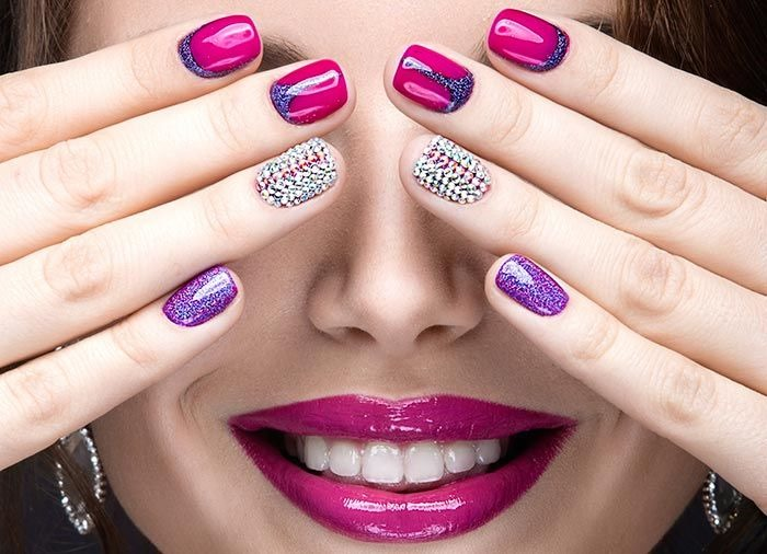 Pink Manicure Nail Art Design