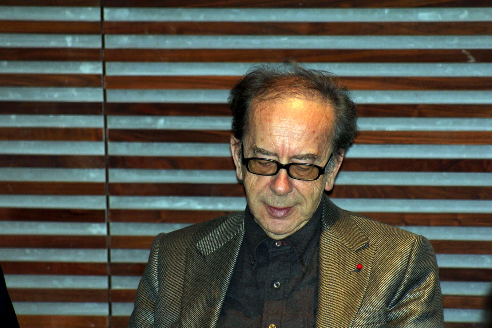 "Ismail Kadare promoting his new book ""The Accident"" in London"