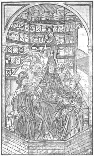 Woodcut From Hortus Sanitatis Augsberg 1496, Alchemical Apparatus