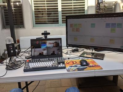 Mob programming remote retrospective outside.