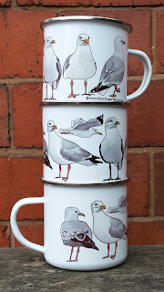 Seagull Enamel Mug by Alice Draws The Line