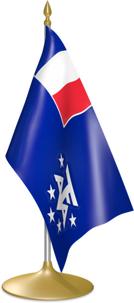 French Southern Territories  table flags - desk flags