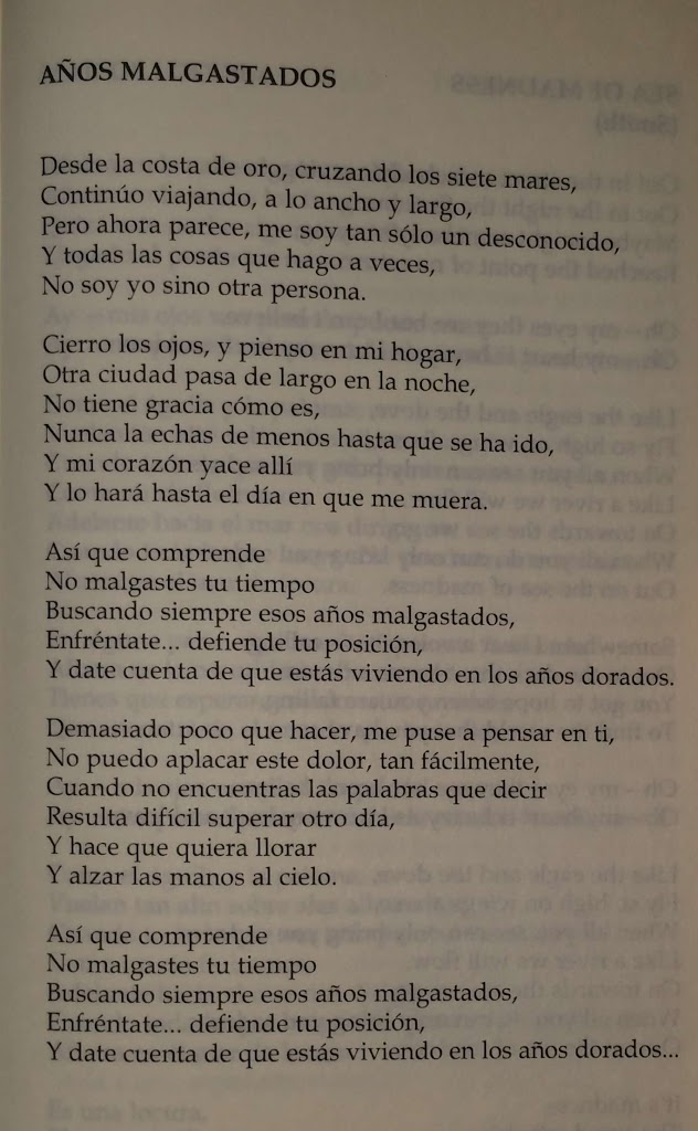 wastedyears-letra