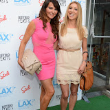 WWW.ENTSIMAGES.COM - Lizzie Cundy and  Katde Walsh   at     Next Stop LAX - launch party at Retro Feasts, 29 Old Burlington Street, London, W1S 3AN, July 09th 2013                                                Photo Mobis Photos/OIC 0203 174 1069
