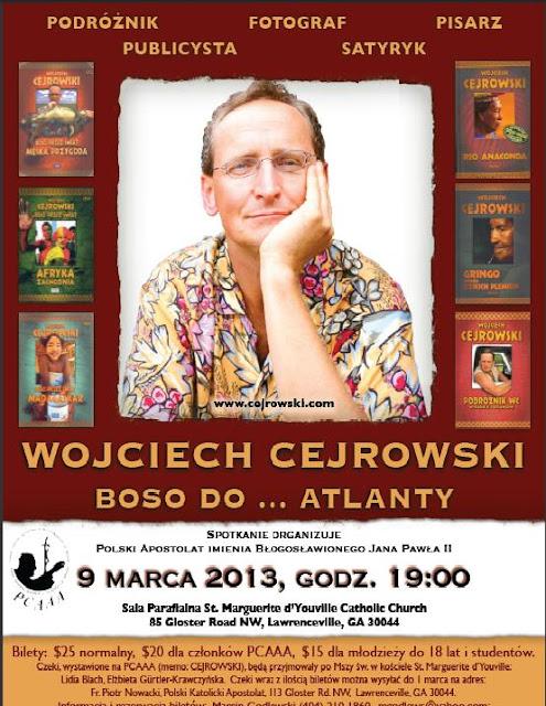Wojciech Cejrowski, znany podróżnik, publicysta i dziennikarz. Zdjęcia Agnieszka Sulewska, E.Gurtler - Ulotka.JPG