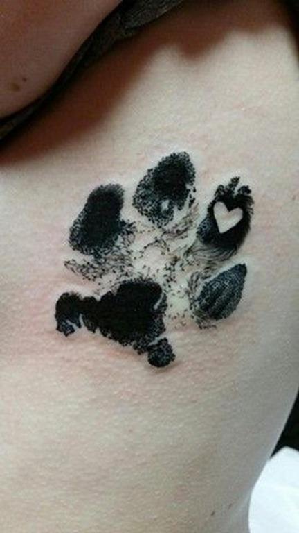 preto_pata_de_impresso_de_tatuagem