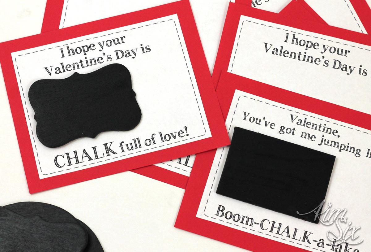 Mini chalkboard valentines