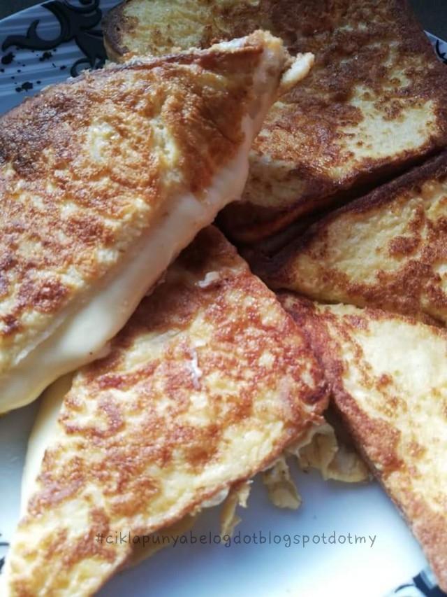 Roti telur cheese paling senang di dunia.