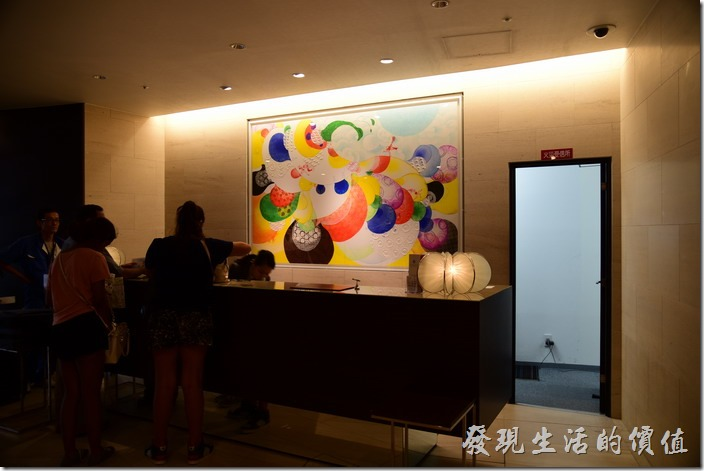 京都格蘭小姐飯店(GRAN Ms KYOTO)的接待櫃台。