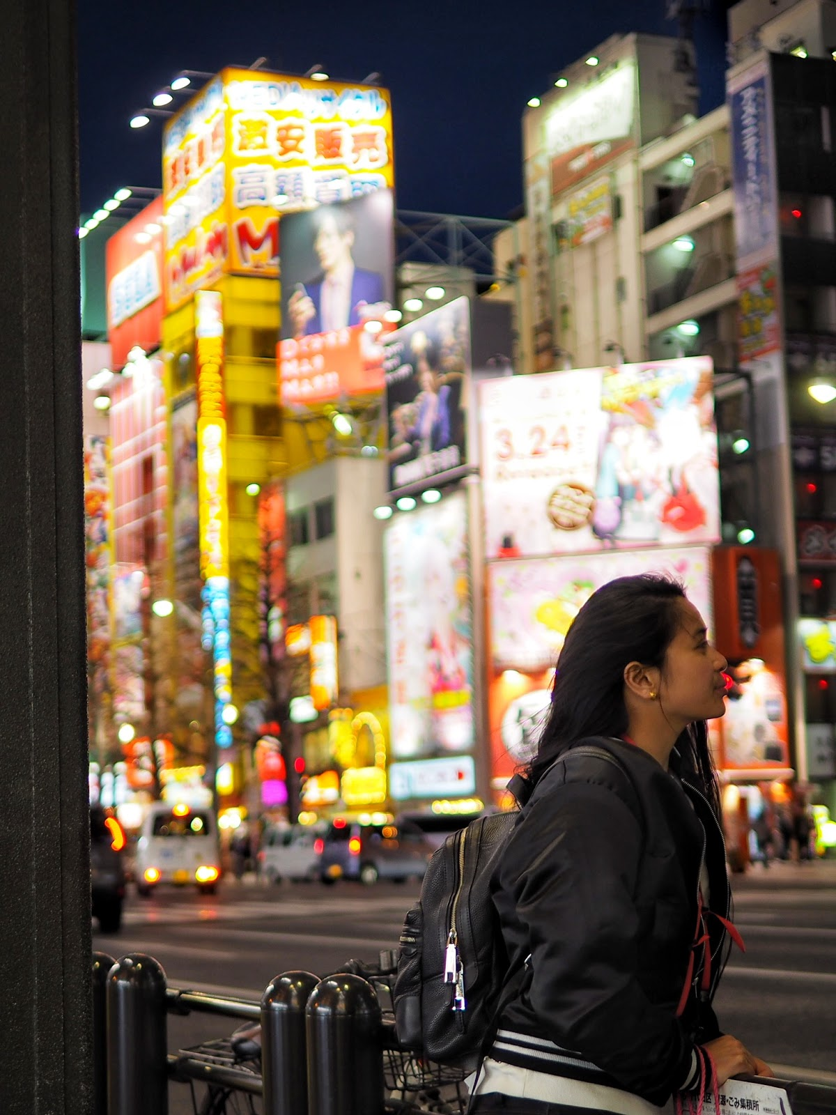 Tokyo Japan hm bomber jacket marc jacobs backpack