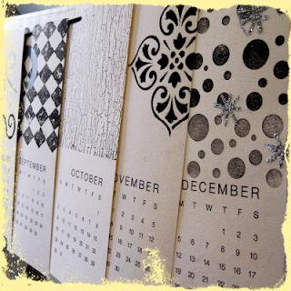 custom hand stamped calendar