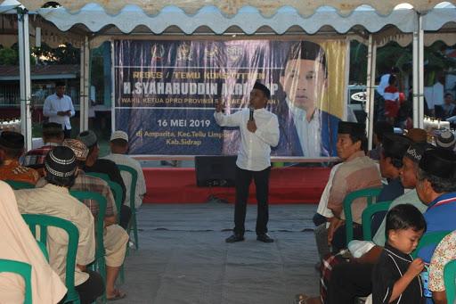 Dihadiri Ratusan Warga Tellu Limpoe, Wakil Ketua DPRD Sulsel Reses dan Bukber