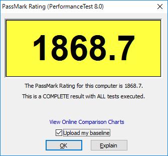 CPUMark Dell Inspiron 3647