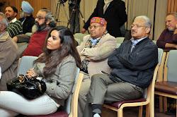 Malvika Singh in the foreground, with A J Philip, Uttam Sengupta and Shastri Ramachandran