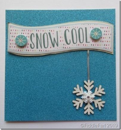 Snow Cool Card (Hobbycraft)