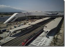 Veduta dall'alto della Stazione dell'Alta Velocità di Afragola