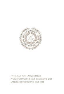 256b Medaille für langjährige Pflichterfüllung zur Stärkung der Landesverteidigung der DDR für 10 Jahre http://www.ddrmedailles.nl