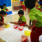 Water Play activity in Nursery class at WITTY WORLD