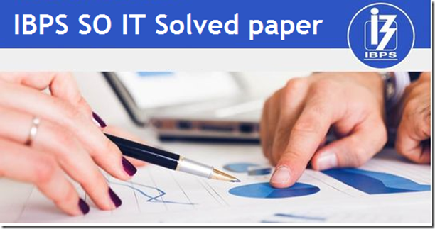 IBPS Specialist IT Officer  Previous Question paper PDF