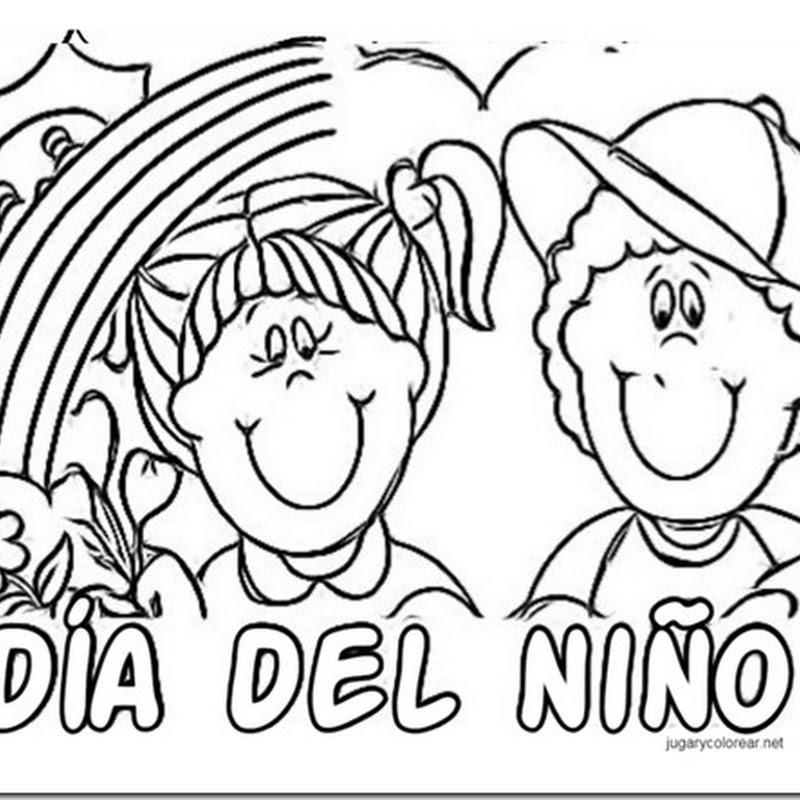 dibujos de Felíz Día del Niño para colorear