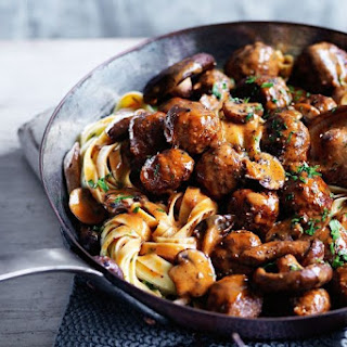 Venison Meatball And Wild Mushroom Ragout.