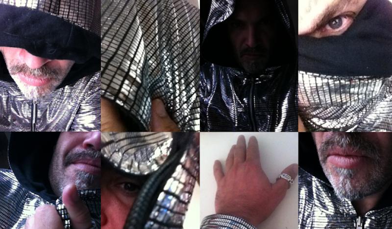 Disco Hoodie MC portrait collage