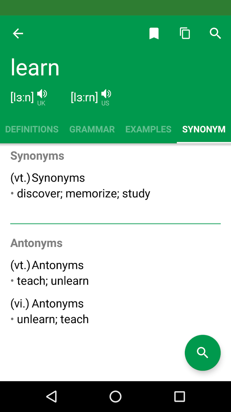 Erudite Dictionary, Translator & Widget Screenshot 5