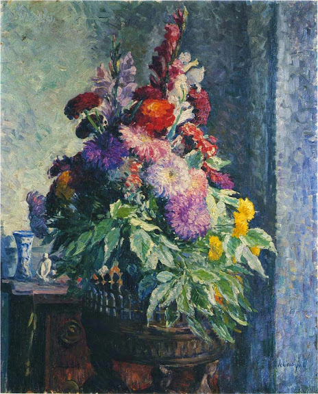 Henri Lebasque - Interior with a bouquet of flowers