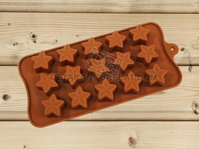 cetakan coklat cokelat SIL065 SIL65 bintang