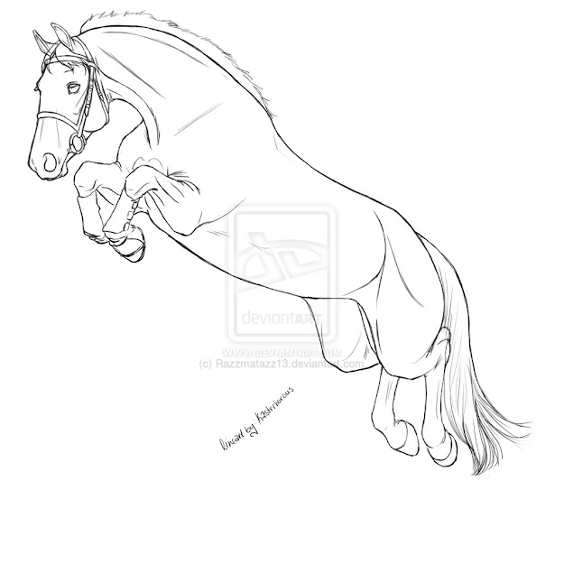How To Draw Horse Jumping Over Fence Httpberryridingclub
