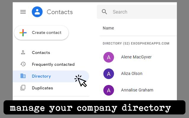 Voyzu Contacts Directory - G Suite Marketplace