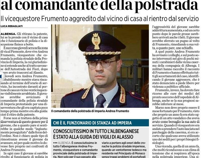 Alassiofutura albenga il vice questore andrea frumento for Diretta da montecitorio
