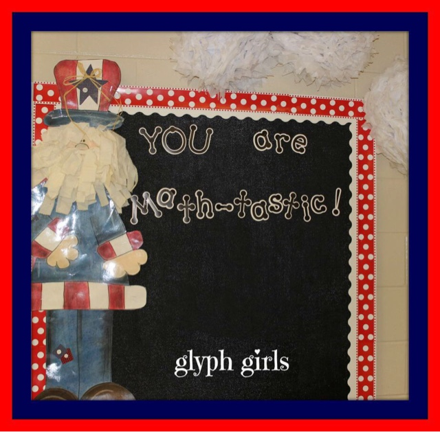 Glyph Girls Teacher Feature Patriotic Theme