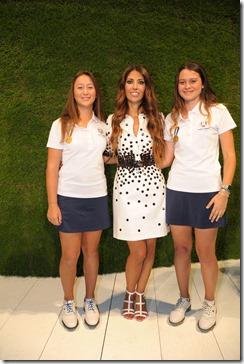 Lavinia Biagiotti con Clara Manzalini e Alessandra Fanali